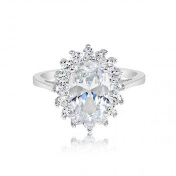 White Royal Wedding Ring (R-1034-W-ADJ)
