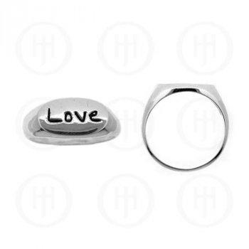 Silver Plain Love Ring (R-1001)