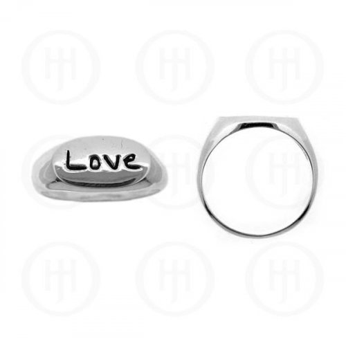 Silver Plain Love Ring (R-1001)