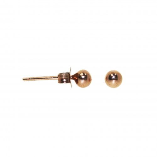 Rose Gold plated Silver Ball Stud Earring (ST-1026-4-R)