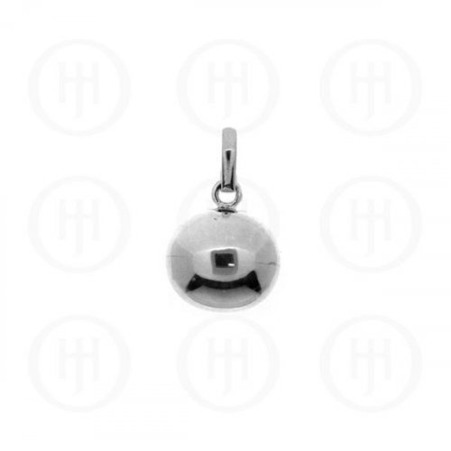 Silver Round CHIME Ball (medium) Pendant (P-1090-14)