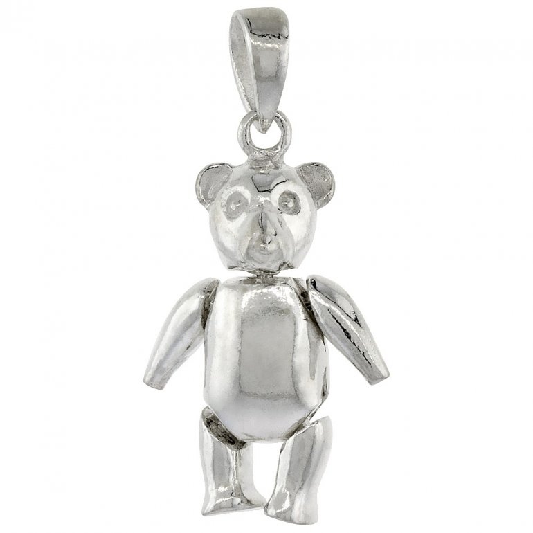 Sterling silver movable teddy bear pendant p 1068 house of sterling silver movable teddy bear pendant p 1068 aloadofball Images