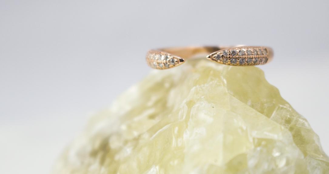 New Rose Gold Horn ring